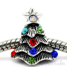 Christmas Tree European Bead For European Charm Bracelet And Necklace Chains