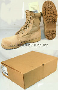 US Military DESERT TAN COMBAT BOOTS Sierra Vibram Sole USA Made USGI NIB $149