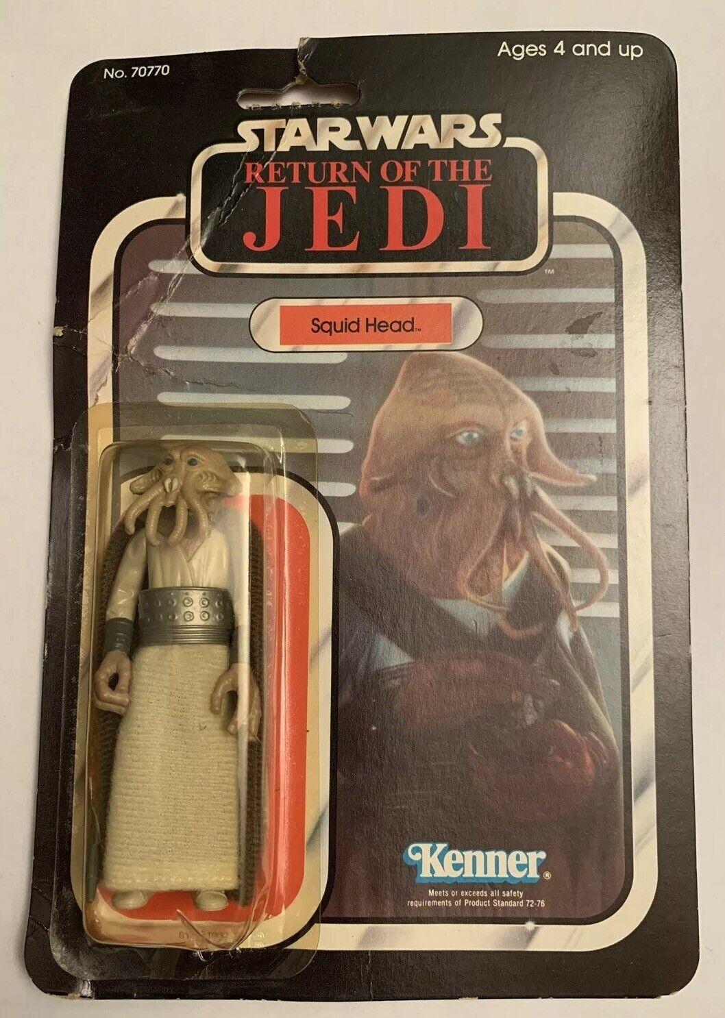 VINTAGE 1983 Kenner estrella guerras Return of the Jedi rossoJ Squid Head 65 BACK MOC