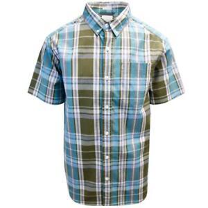 Columbia Men's Olive Blue Plaid Rapid Rivers II S/S Shirt (Retail $45.00)