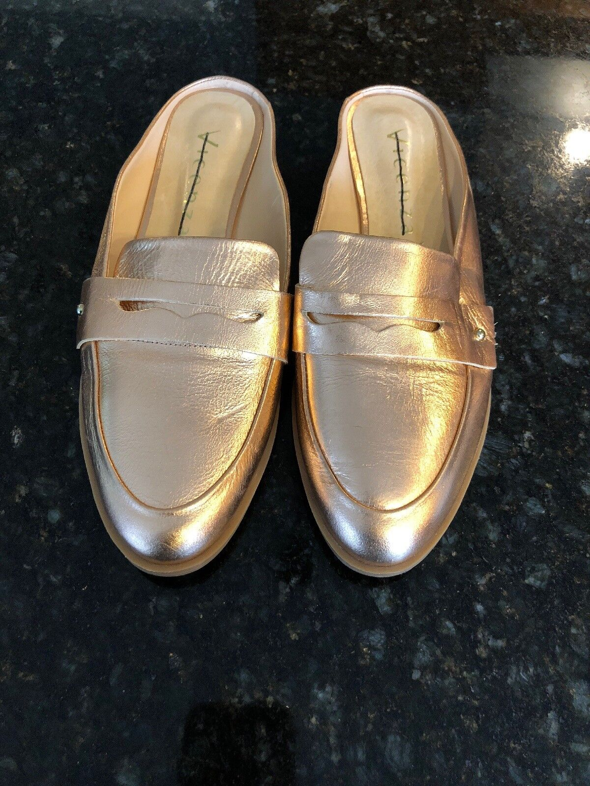 Anthropologie Vicenza  oro Leather Mules, nuovo,  Suze 38 7