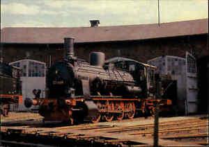 Eisenbahn-Motiv-Postkarte-Lokomotive-Lok-Gueterzug-Dampflokomotive-color-AK