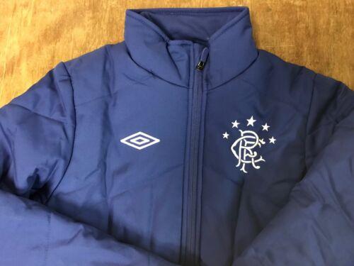 Boys Glasgow Rangers Umbro Padded Coat Sizes Small /& Medium Navy /& Royal Blue