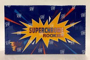 1993-Wild-Card-SUPER-CHROME-ROOKIES-Football-factory-sealed-card-box-24pks