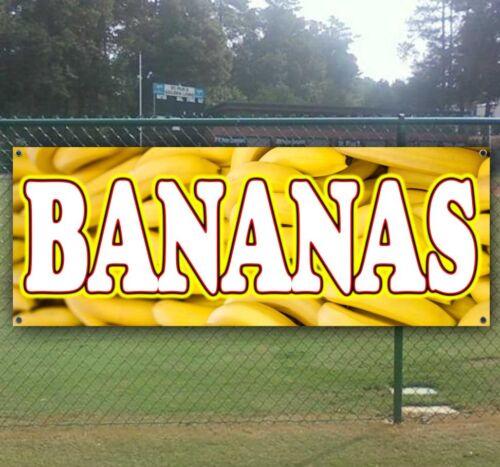 BANANAS Advertising Vinyl Banner Flag Sign CARNIVAL FAIR FOOD USA