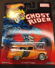 Hot Wheels Pop Culture Marvel Ghost Rider '55 Chevy Panel Real Riders Metal Base