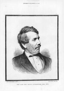 1874-Antique-Print-PORTRAITS-David-Livingstone-East-Kilbride-Lobisa-109
