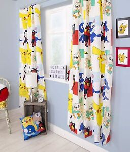Pokemon-Dash-Readymade-Curtains-54-034-or-72-034-Drop-Matches-Bedding