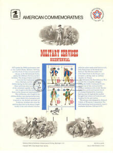 52-10c-Military-Services-1565-1568-USPS-Commemorative-Stamp-Panel-w-FDC-Zip