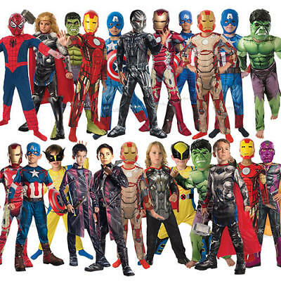 The Avengers Superhero Kids Fancy Dress Childrens Boys Childs Costume Outfit New