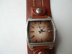 Fossil Herren Braun Lederband Uhren & Schmuck