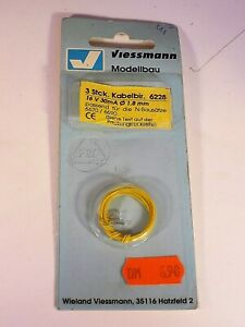 Viessmann Modeling 6228 Clear Lightbulbs 16 v 30mA Ø 1.8mm (3 pcs.) NIP
