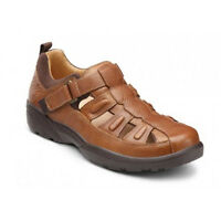 Dr Comfort Fisherman Leather Diabetic Shoes Sandals W Gel Inserts Free Exchanges
