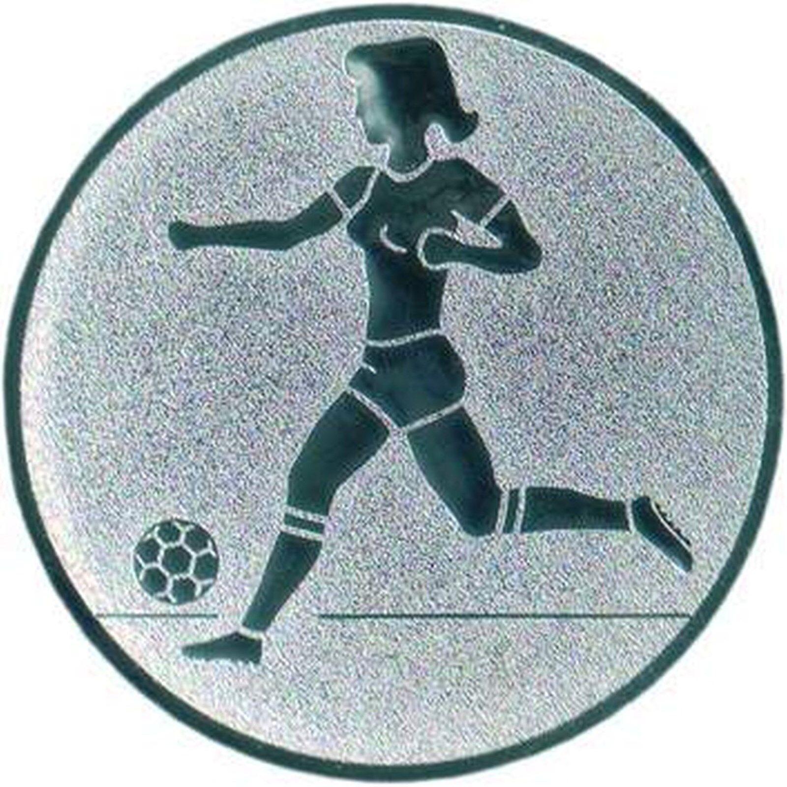 100 Embleme Fußball Durchmesser 25mm 25mm 25mm Zubehör für Pokale und Medaillen a807f0