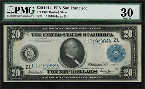 1914-20-Federal-Reserve-Note-San-Francisco-FR-1009-Graded-PMG-30-VF