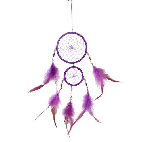 Handmade Black Dream Catcher Circular Net Wall Hanging Decoration Ornament