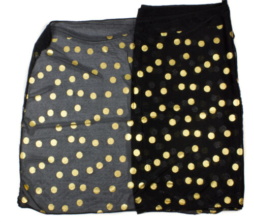 Polka Dot Scarf  Super Soft Feel Gold Metallic Dot Print Girls Women Scarf Wrap