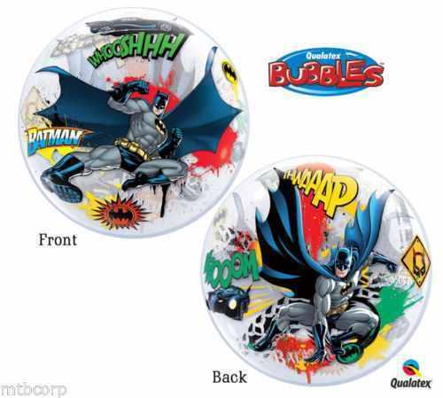 BATMAN Over Gotham Bubbles Balloon Party Balloon Super Stretchy Ball