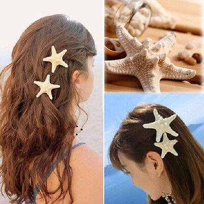 2pcs Womens Girls Elegant BEAUTY Starfish Sea Star Hairpin Hair Clip Accessories