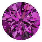 2.4 MM CERTIFIED Round Fancy Purple Color SI 100% Real Loose Natural Diamond #G