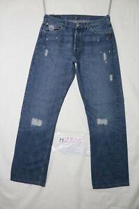 Levi-039-s-501-STRAPPATO-usato-Cod-H2725-W34-L34-ACCORCIATO-L32-jeans-dritto