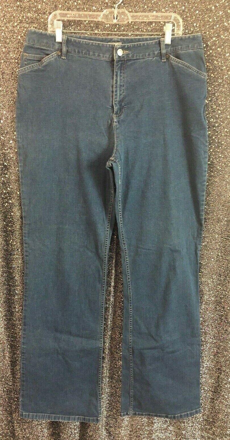 J Jill Womens Sz 18 Tall Cotton Stretch Medium Wash Denim Straight Leg Jeans
