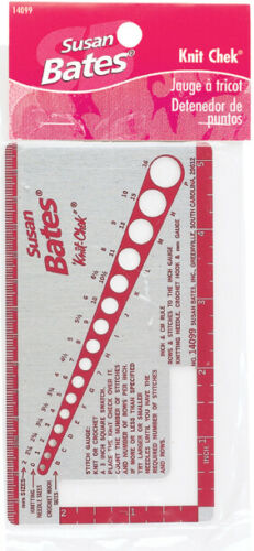 Susan Bates 14099 Knit-Chek For Knitting Needle 3 By 5-12-Inch
