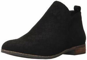 Dr. Scholl's Shoes Womens Rate Leather Almond Toe Ankle Fashion, Black, Size 8.0