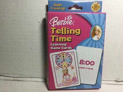 Barbie Telling Time Learning Game Cards 805219018101 | eBay