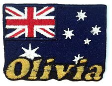 Flag of Australia Custom Iron-on Patch With Name Personalized Free