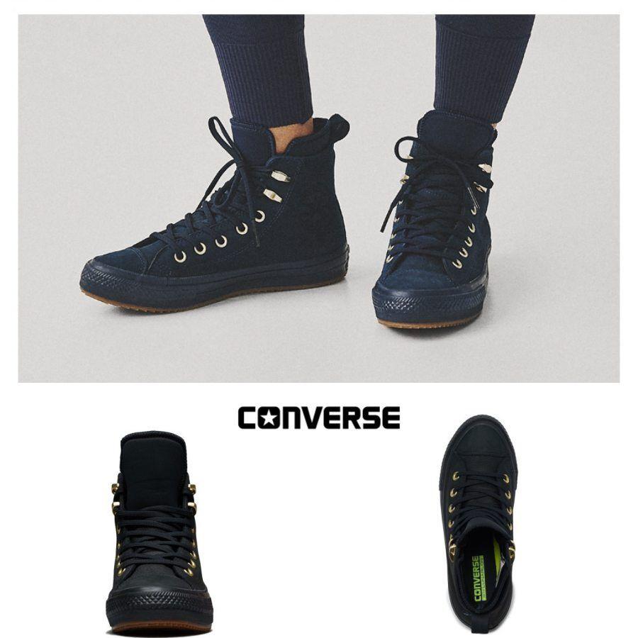 Details about Converse Chuck Taylor All Star Boot Nubuck Black 557945C Sz 3 12