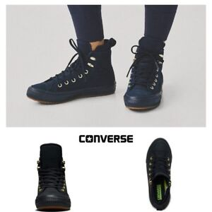 22f0937d0d92 Image is loading Converse-Chuck-Taylor-All-Star-Boot-Nubuck-Black-