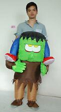 Adult Inflatable Horrible Ride on Frankenstein Monster Costume Halloween Cosplay