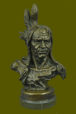 Bronze Cooperative Hot Besetzung Handgefertigter Indianer Stecker Warrior Bronze Detailliert Bronze A Great Variety Of Goods