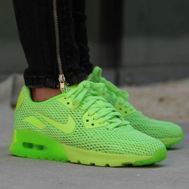 Nike Air Max 90 Ultra Breath 725061-300 femmes Electric Green Volt Training Rar