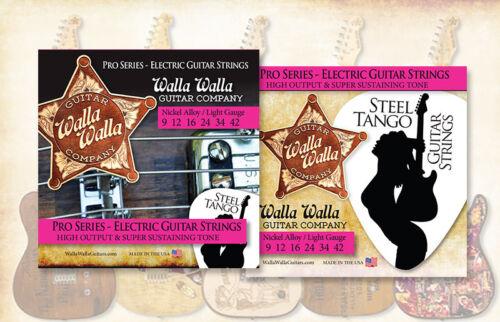 Walla Walla Guitar Company Steel Tango Strings .009 Light Gauge 3 SETS