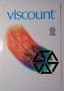ORIGINAL 1982 Vicomte signe de son orgue électronique brochure-afficher le titre d`origine ceQNjKKO-08141615-518298077