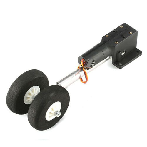 Two Wheeled Shocking Proof Retract Landing Gear Set For 2KG RC Airplane