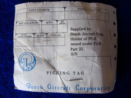 Cad Plated Phillips CAMLOC Fastener Stud Part # 26S8-8 Beechcraft Aircraft