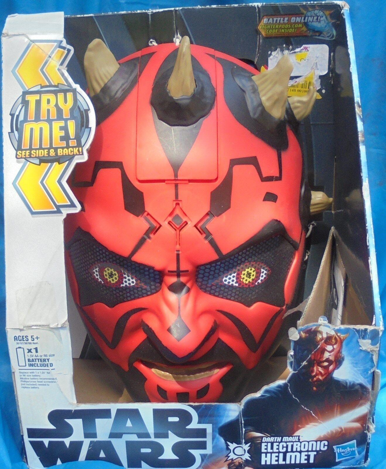 Hasbro Kenner Star Wars Darth Maul Electronic Helmet MIP NRFP Mask 2011 Sith