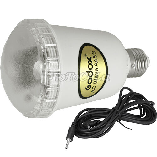 Indoor 110V 20W photo AC slave studio flash strobe light bulb A45S E27 GN13 NEW