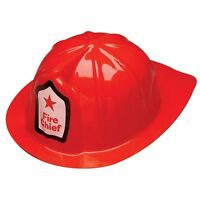 Boys Kids Child Firefighter Firemans Party Favor Chief Costume Play Hat Helmet