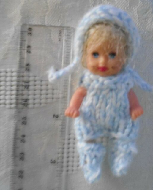 Doll Clothes 3 pc Outfit for Mini Maby Polymer Clay Artist ooak or Krissy 2.5""