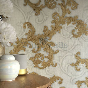 Image Is Loading Versace Calligraphy Floral Trail Designer Luxury Wallpaper In