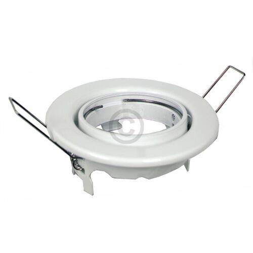 Lampenhalter 89mmØ weiß Metall-Einbaustrahler schwenkbar Rutec 55051