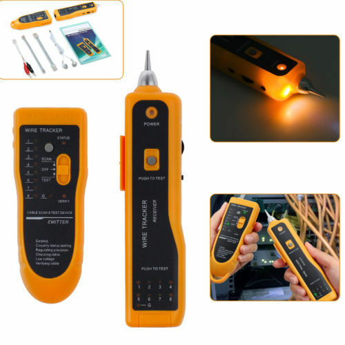 MASTECH Network Cable Telephone Line Tester Detector Tracker MS6813 Transmitter