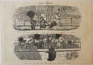 """PréVenant Lithographie, Daumier, """"croquis Parisiens"""""""
