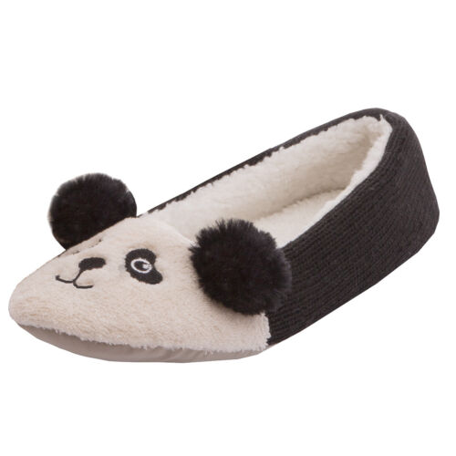 Ladies Novelty Textile Ballet Slippers~ Panda or Unicorn