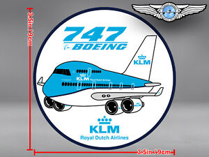 KLM ROYAL DUTCH AIRLINES PUDGY BOEING B747 B 747 IN NEW LIVERY DECAL / STICKER