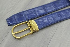 High-Quality-Blue-Genuine-Crocodile-Alligator-Leather-Skin-Men-039-s-Belt